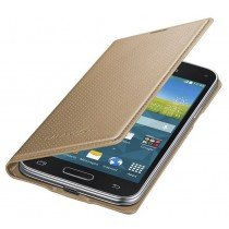 Samsung Galaxy S5 Mini G800 Flip Cover (dot) goud EF-FG800BD