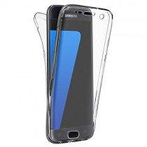 Samsung Galaxy S7 Edge TPU hoesje voor + achter