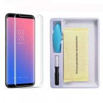 Samsung Galaxy S9 UV Tempered Glass (volledig scherm)