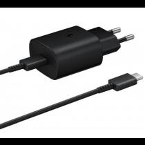 Samsung USB-C snellader set 25W zwart