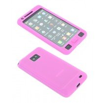 Siliconen hoesje Samsung Galaxy S2 / S2 plus roze
