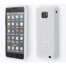 Siliconen hoesje Samsung Galaxy S2 / S2 plus wit