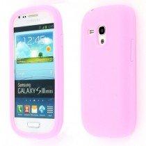 Siliconen hoesje Samsung Galaxy S3 Mini i8190 roze