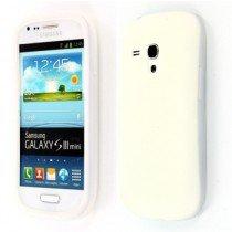 Siliconen hoesje Samsung Galaxy S3 Mini i8190 wit