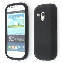 Siliconen hoesje Samsung Galaxy S3 Mini i8190 zwart
