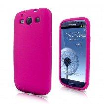 Siliconen hoesje Samsung Galaxy S3 i9300 roze