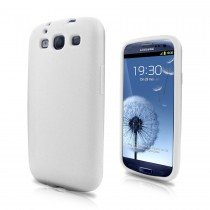 Siliconen hoesje Samsung Galaxy S3 i9300 wit