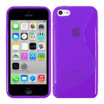 Silicon TPU case Apple iPhone 5C paars