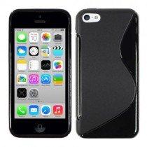Silicon TPU case Apple iPhone 5C zwart