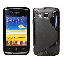 Silicon TPU case Samsung Galaxy Xcover S5690 zwart