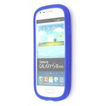 Siliconen hoesje Samsung Galaxy S3 Mini i8190 blauw