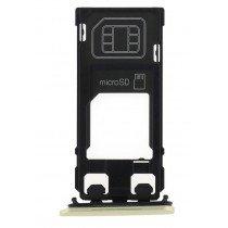 Sim en Micro SD kaart houder - Sony Xperia X goud