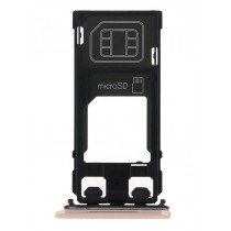 Sim en Micro SD kaart houder - Sony Xperia X rose goud