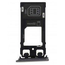 Sim en Micro SD kaart houder - Sony Xperia X zilver