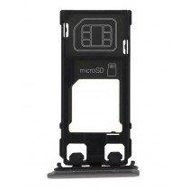 Sim en Micro SD kaart houder - Sony Xperia X zwart