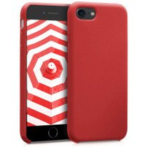 Softcase hoesje Apple iPhone SE (2020) mat - rood
