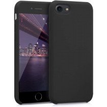 Softcase hoesje Apple iPhone SE (2020) mat - zwart