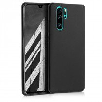 Softcase hoesje Huawei P30 Pro mat - zwart