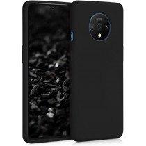 Softcase hoesje OnePlus 7T mat - zwart