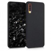 Softcase hoesje Samsung Galaxy A70 mat - zwart