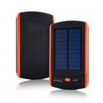 Solar powerbank batterij - 2x USB - 6000 mAh