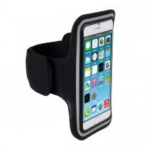 Sport armband Apple iPhone 6S Plus zwart - Headset aansluiting