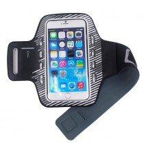 Sport armband met LED verlichting universeel - XXL - grijs