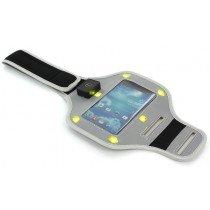 Sport armband LED Samsung Galaxy S4 i9505 grijs