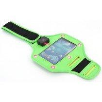 Sport armband LED Samsung Galaxy S4 i9505 groen