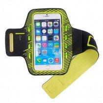 Sport armband met LED verlichting universeel - XXL - geel