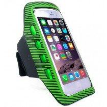 Sport armband met LED verlichting universeel - XXL - groen