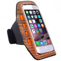 Sport armband met LED verlichting universeel - XXL - oranje