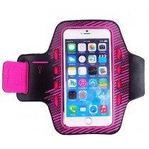 Sport armband met LED verlichting universeel - XXL - roze