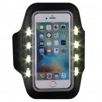 Sport armband met LED verlichting universeel - XXL - zwart