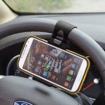 Stuur wiel autohouder voor smartphone - universeel