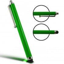 Stylus Pen capacitive groen met clip