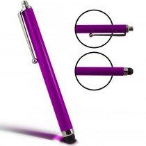 Stylus Pen capacitive paars met clip