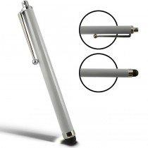 Stylus Pen capacitive zilver met clip