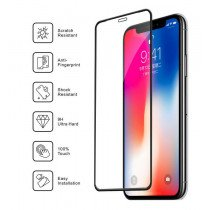 Tempered Glass met siliconen rand Apple iPhone 11 Pro / iPhone XS / iPhone X