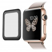 Tempered Glass (volledig scherm) Apple Watch Series 1/2/3 - 38mm - zwart