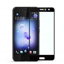 Tempered Glass (volledig scherm) HTC U11 zwart