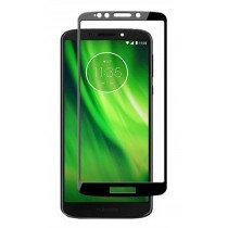 Tempered Glass (volledig scherm) Motorola Moto G6 Play zwart