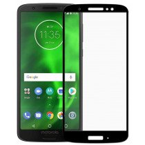 Tempered Glass (volledig scherm) Motorola Moto G6 Plus zwart