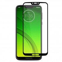Tempered Glass (volledig scherm) Motorola Moto G7 Play zwart