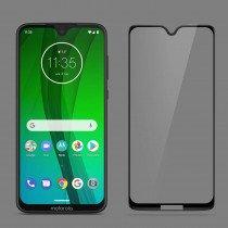 Tempered Glass (volledig scherm) Motorola Moto G7 Plus zwart