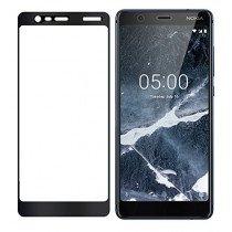 Tempered Glass (volledig scherm) Nokia 5.1 zwart