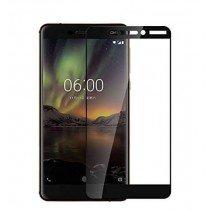 Tempered Glass (volledig scherm) Nokia 6.1 zwart