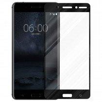 Tempered Glass (volledig scherm) Nokia 6 zwart