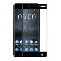Tempered Glass (volledig scherm) Nokia 8 zwart