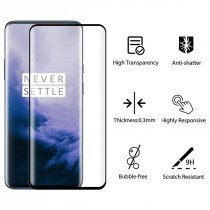 Tempered Glass (volledig scherm) OnePlus 7T Pro zwart